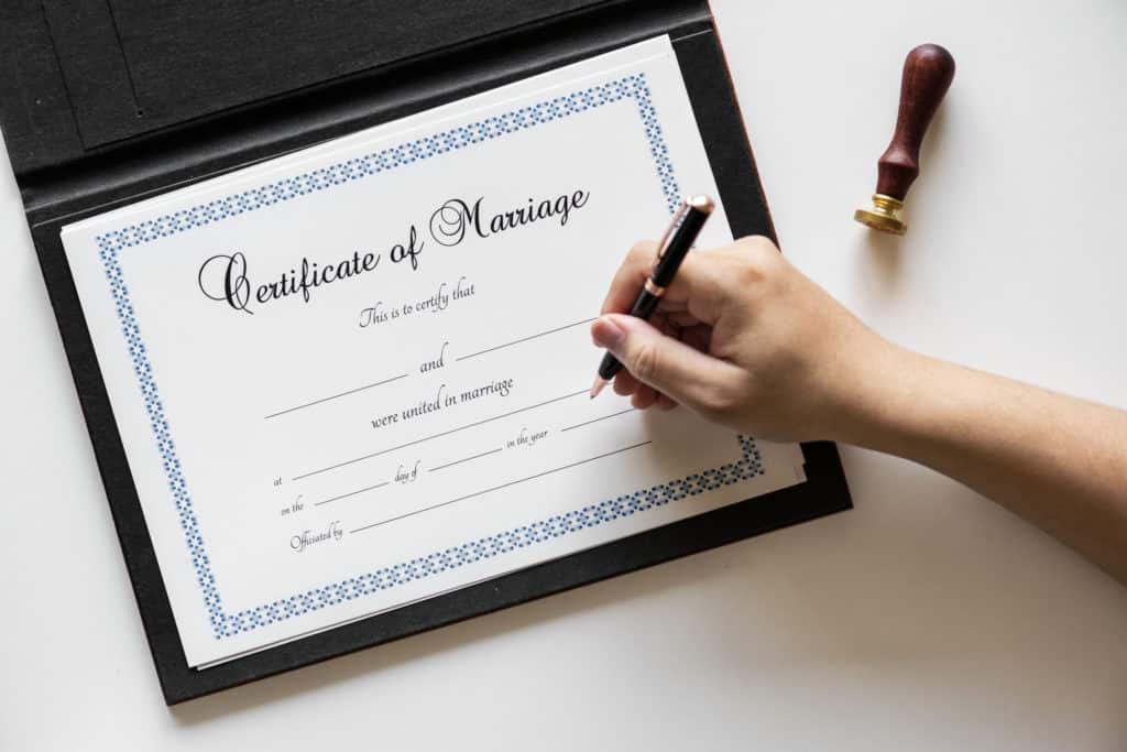 Certified Marriage Certificate