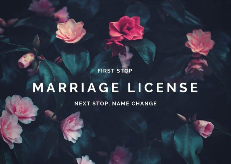 Marriage license precedes name change