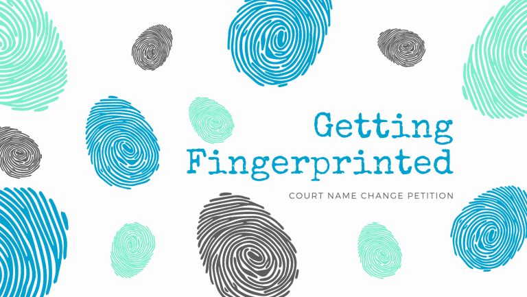 Getting fingerprinted