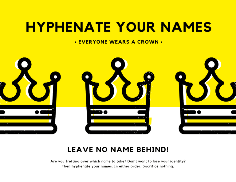 Hyphenate your names