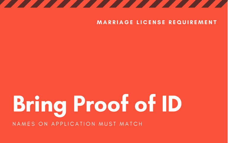 Bring proof of ID when applying