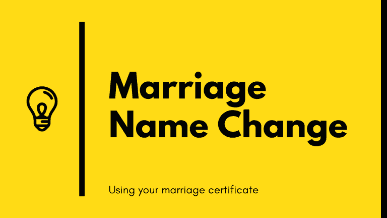 Marriage name change using your marriage certificate