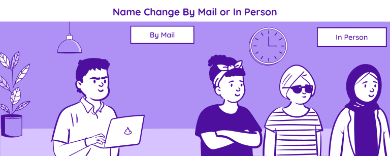 Name change by mail or in person