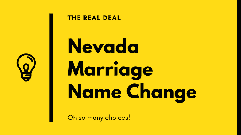 Nevada's many marriage name change options