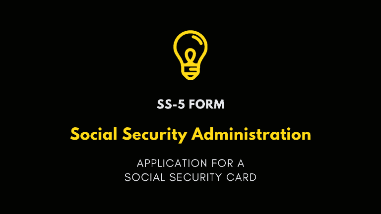 SS-5 Form, Social Security Administration Application for a Social Security Card