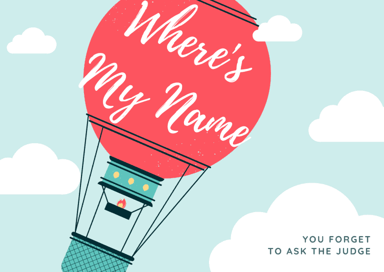 Ask the judge to restore your maiden name