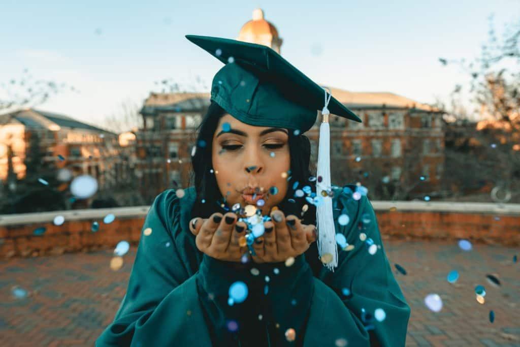 Female Graduate Celebrating Her Diploma