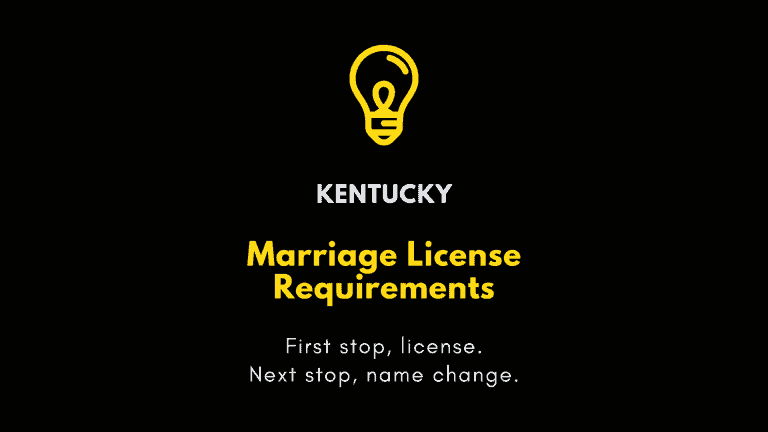 Kentucky marriage license requirements
