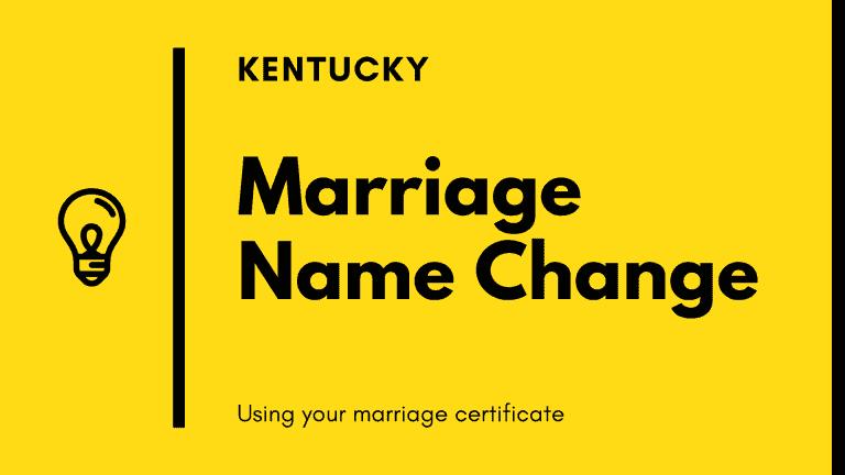 Kentucky marriage name change