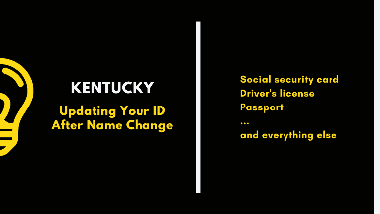 Kentucky, updating your ID after name change