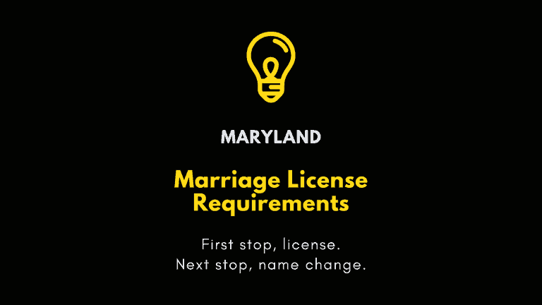 Maryland marriage license requirements