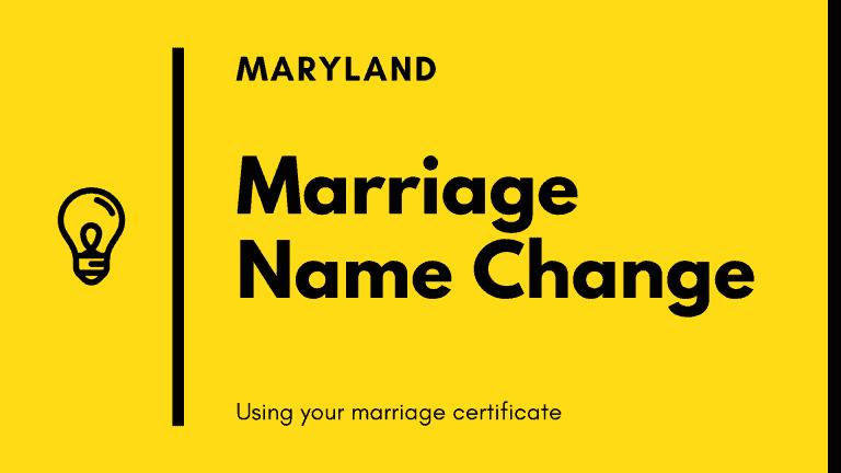 Maryland marriage name change