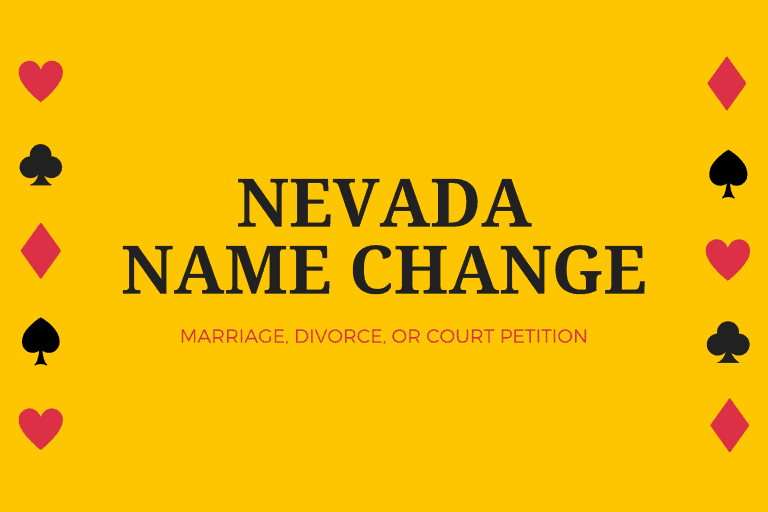 Nevada name change after marriage, divorce, or court petition