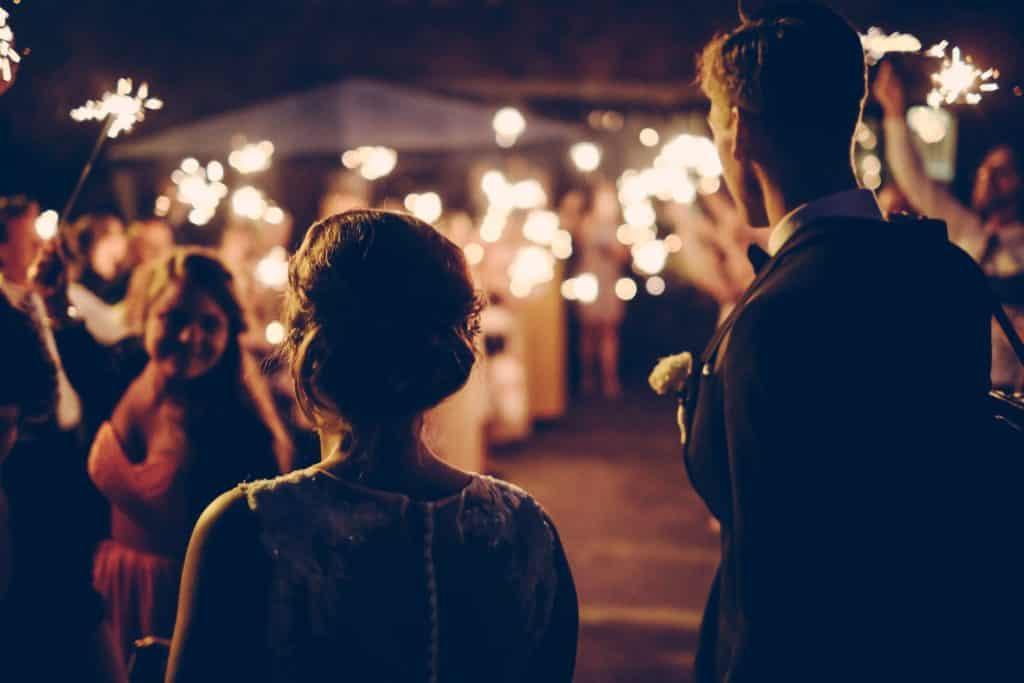 Nighttime Wedding Reception