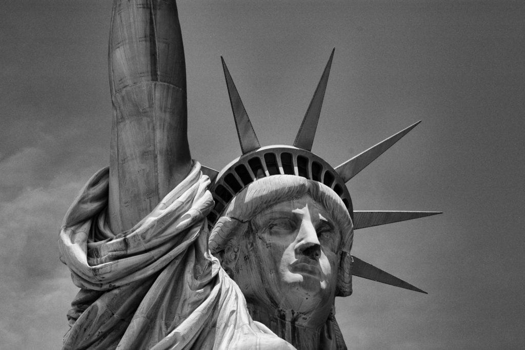Statue of Liberty on Liberty Island in New York Harbor
