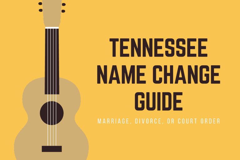 Tennessee name change through marriage, divorce, or court order