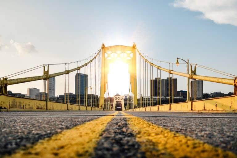 Tenth Street Bridge in Pittsburgh, Pennsylvania